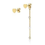 Nomination  Bella Gold Heart Earrings