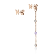 Nomination  Bella Rose Gold Butterfly Earrings