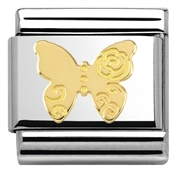 Nomination  Gold Butterfly Charm
