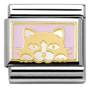 Nomination  Pink Cat Charm