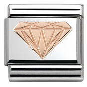 Nomination  Rose Gold Diamond Charm