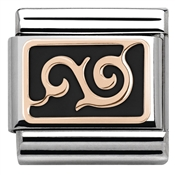 Nomination  Rose Gold Black Curl Charm