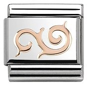 Rose Gold Curl Charm by Nomination