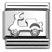 Nomination  Silver Scooter Charm