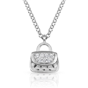 Nomination  Gioie Silver Handbag CZ Necklace