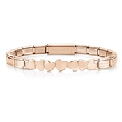 Nomination Trendsetter Rose Gold Heart Bracelet