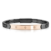 Nomination  Trendsetter Black And Rose Gold Screw Bracelet