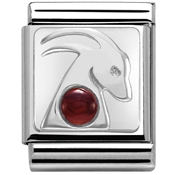 Nomination Big Garnet Capricorn Charm