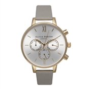Olivia Burton Chronograph Grey And Gold Watch
