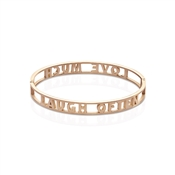 Affirmations Rose Gold Cut-Out Love Much Bangle