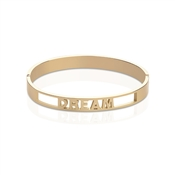 Affirmations Gold Cut-Out Dream Bangle