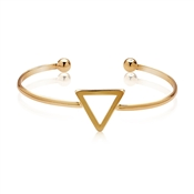 Dirty Ruby Outlet Gold Geometric Bangle