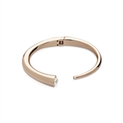 August Woods Rose Gold Crystal Torque Bangle