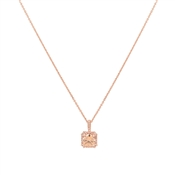 August Woods Square Cut Champagne Crystal Necklace