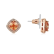 August Woods Diamond Cut Champagne Crystal Stud Earrings