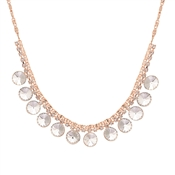 August Woods Rose Gold Statement Disc Necklace