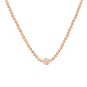 August Woods Rose Gold Elegant Embellishments Ball Necklace