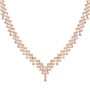 August Woods Rose Gold Elegant Embellishments Showstopper Necklace