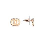 August Woods Rose Gold Interlinking Stud Earrings