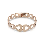 August Woods Rose Gold Endless Hearts Bangle