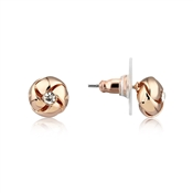 August Woods Rose Gold Crystal Knot Studs