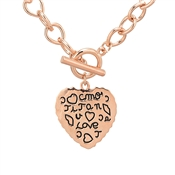 August Woods Rose Gold Scribble T-Bar Necklace