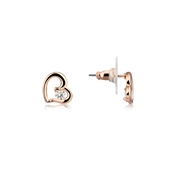 August Woods Rose Gold Crystal Heart Studs