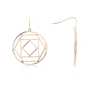 August Woods Geometric Circular Rose Gold Statement Earrings