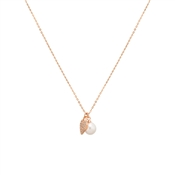 August Woods Rose Gold Elegant Embellishments Pearl Necklace