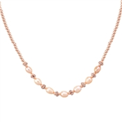 August Woods Rose Gold Champagne Pearl Necklace