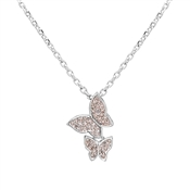 August Woods Crystal Butterfly Necklace