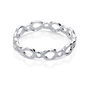 August Woods Silver Circle Bangle