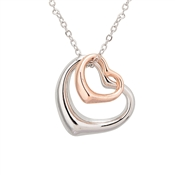 August Woods Rose Gold Mix Heart Necklace