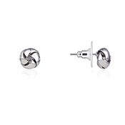 August Woods Silver Crystal Knot Studs