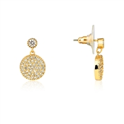 August Woods Rose Gold Embellished Disc Earrings