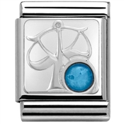 Nomination Big Blue Opal Libra Zodiac Charm