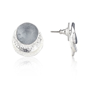 August Woods Midnight Metallics Silver Earrings