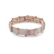 August Woods Blushed Rose Statement Bracelet