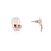 August Woods Blushed Rose Stud Earrings