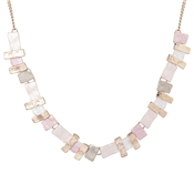 August Woods Blushed Rose Statement Necklace