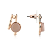 August Woods Blush Rose Abstract Studs