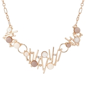 August Woods Blush Rose Abstract Necklace