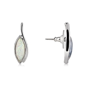August Woods Abstract Moonstone Stud Earrings