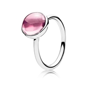 PANDORA Pink Poetic Droplet Ring