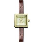 Vivienne Westwood Brown & Gold Babycube Watch