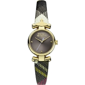 Vivienne Westwood Checked Gold Maida Watch