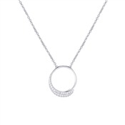 Argento Frozen Sentiments Open Circle Necklace