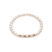 Argento Rose Gold & Pearl Mixed Bracelet