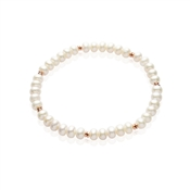 Argento Scattered Rose Gold & Pearl Bracelet