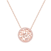 Argento Rose Gold Arabesque Love Necklace